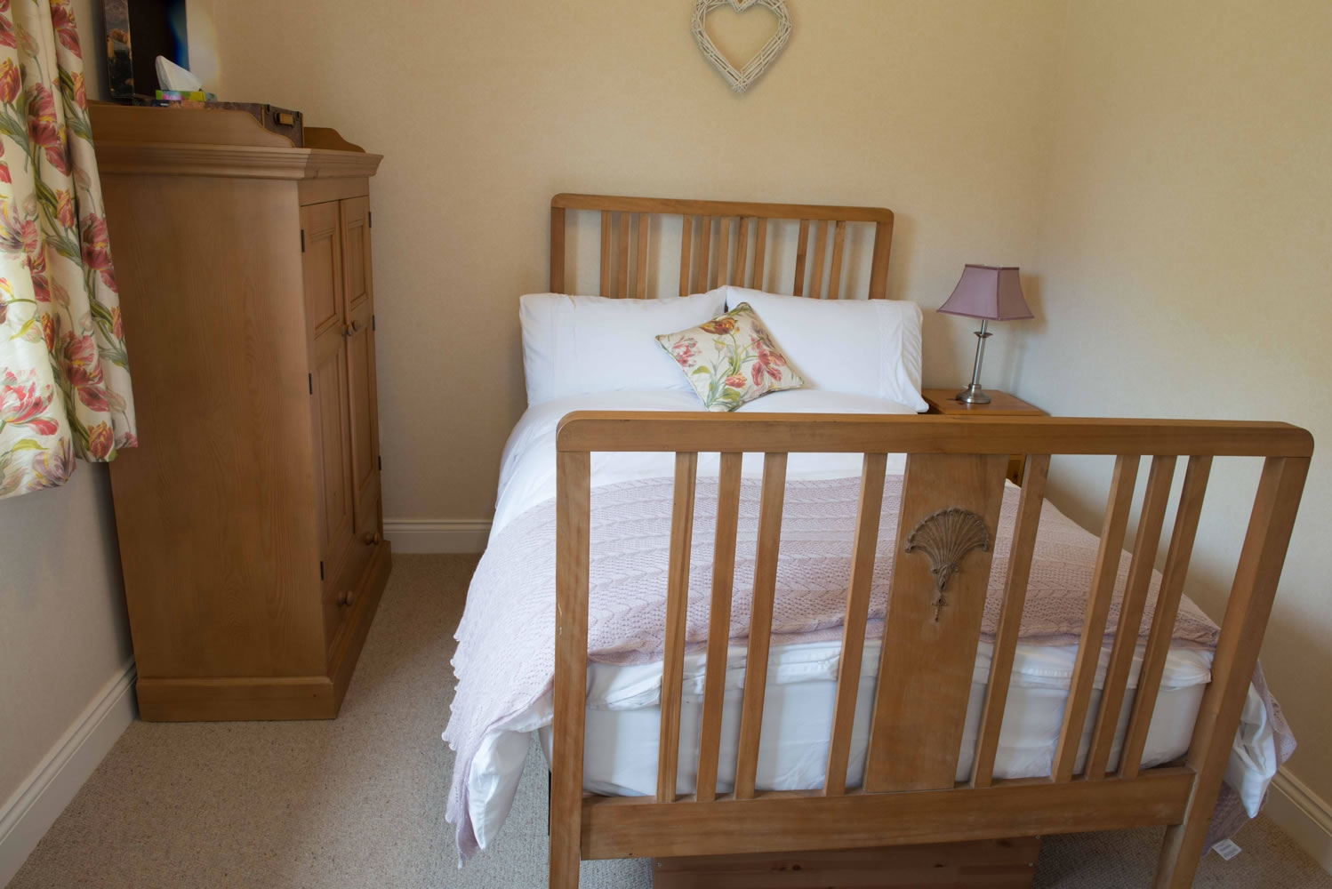 Traditionally furnished double room